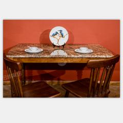 舒美板木结合餐台Q6003+餐椅*2N6002