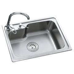 乐肯手工304不锈钢盆加厚不锈钢手工水槽单槽台洗菜盆 单槽LK5643