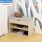 门口换鞋凳鞋柜防尘仿实木多功能简易鞋架多层家用储物柜子穿鞋凳