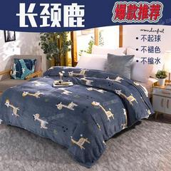 两用法兰绒毛毯床单午睡盖毯宿舍毯子冬季加绒速暖单件被单子