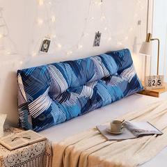 床头靠垫三角大靠背帆布双人长靠枕韩版床头靠背软包榻榻米床靠垫