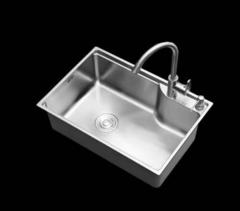 乐肯厨卫不锈钢单槽水槽套餐一体厚台上下洗菜盆洗碗水池水盆LK5842