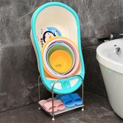 落地式卫生间浴室置物架拖鞋脸盆架子收纳用品洗手间厕所放洗澡盆