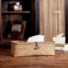 贝汉美(BHM) 北欧家居禅意创意纸巾盒 餐桌客厅竹编抽纸盒手工制藤编餐巾纸盒 其它颜色