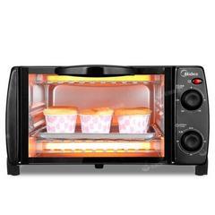 美的烤箱T1-108B家用美的小烤箱专业烧烤烘焙迷你10L小容量