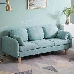 北欧布艺沙发小户型现代简约小客厅卧室三人服装店网红款