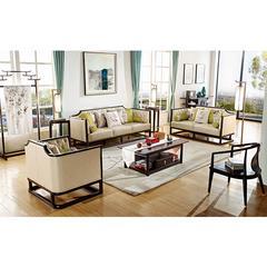 YD 新中式客厅家具 沙发B6302-2、长茶几F6337