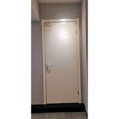 【力天木门】力天白混平板门(象牙白色) 现代简约卧室客厅门   LT-M012