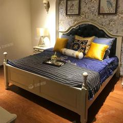 (超级秒杀)双人床1.8米现代简约板式床(自提免运费)