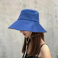 渔夫帽女夏季韩版潮日系双面遮脸防紫外线帽子大沿防晒帽遮阳帽男