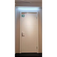 【力天木门】 力天白混平板木门  现代简约卫浴门  LT-M006