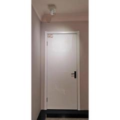 【力天木门】 力天白混平板藤纹门 现代简约卫浴门  LT-M005