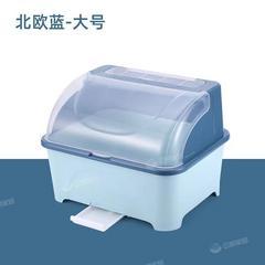 厨房碗筷收纳盒大号塑料碗柜带盖抽屉式沥水碗架厨房置物架装碗箱