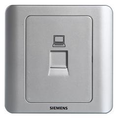 西门子(SIEMENS)开关插座 远景系列 电脑插座面板(银色)