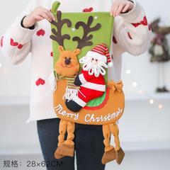 圣诞节礼物袜 圣诞老人雪人装饰袜子 送儿童礼物礼品糖果苹果袋
