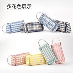 简约女生笔袋日系女大容量文具盒初中生ins韩版可爱铅笔盒高颜值