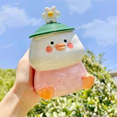 高颜值马克杯带盖情侣水杯礼物陶瓷可爱小众设计感高级感杯子女夏