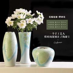 陶艺马蹄莲花瓶