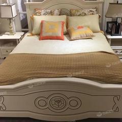 1.5米现代简约床单双人床白色卧室