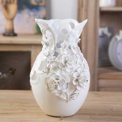 描金玫瑰花瓶