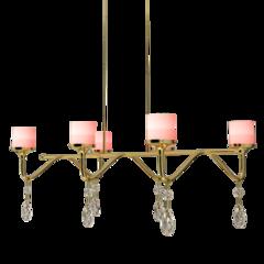 ADOT 欧式吊灯水晶灯  客厅灯餐厅卧室蜡烛奢华古典LED吊灯