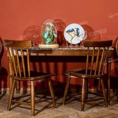 舒美板木结合餐台Q6003+餐椅N6002*2把