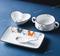 网红碗碟套装家用陶瓷北欧ins 一人食早餐餐具儿童卡通创意碗盘子