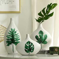 贝汉美BHM 创意花瓶摆件三件套 家居客厅电视柜餐厅玄关装饰品 套