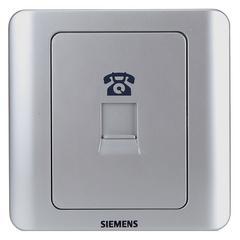 西门子(SIEMENS)开关插座 远景系列 电话插座面板 (银色)