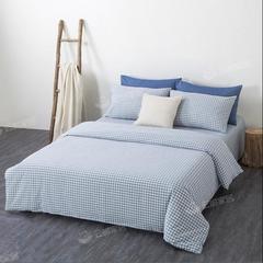 全棉水洗棉四件套良品纯棉被套床单床笠民宿酒店日式床上用品