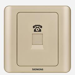 西门子(SIEMENS)开关插座 远景系列 电话插座面板 (金棕色)