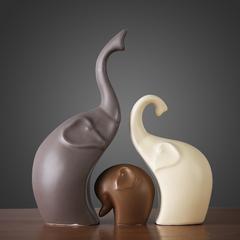 贝汉美 北欧家居装饰品客厅电视柜酒柜摆件工艺品陶瓷情侣象摆设