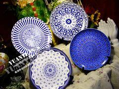 英国大牌东方魅力系列古典皇家蓝惊艳花纹优质骨瓷盘子餐盘装饰盘