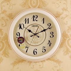 丽盛欧式简约挂钟客厅静音时钟创意艺术个性家用钟表装饰石英钟