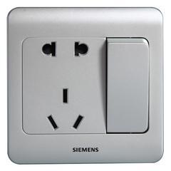 西门子(SIEMENS)开关插座 远景系列 10A五孔带开关面板(银色)