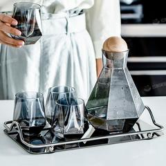 凉水壶套装玻璃杯凉白开水凉水瓶北欧风创意家用水具果汁壶冷水壶