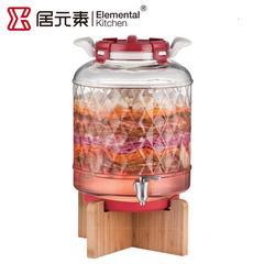 居元素正品储酿器透明玻璃酵素罐瓶带龙头泡菜罐厨房15L帕特