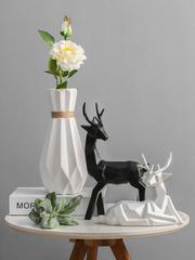北欧简约现代花瓶摆件家居饰品客厅酒柜装饰品摆件创意陶瓷鹿摆件
