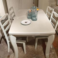 餐桌椅组合现代简约长方形(自提免运费)