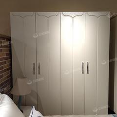 四门衣柜现代简约四门大衣橱小户型主卧家用卧室轻奢家具柜子(自提免运费)