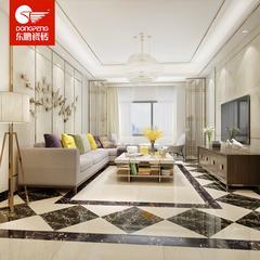 东鹏瓷砖 全抛釉防滑地板砖 切割地脚线 黑金花 FG803026