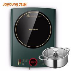 九阳(Joyoung) 电磁炉套装防辐射家用大火灶2200W智能滑竿操控防辐射电磁灶 C22-F2