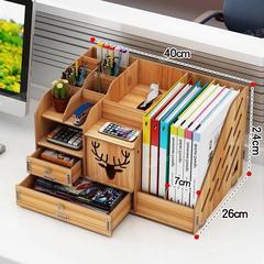 办公室桌面整理架宿舍书桌置物架神器文件夹收纳盒抽屉式学生笔筒