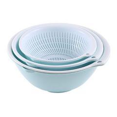 双层塑料沥水篮洗菜盆洗菜篮厨房3件套6个(积分专享)