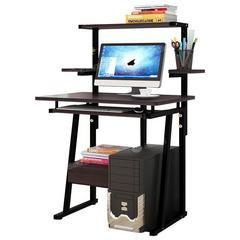 电脑桌台式家用简约学生卧室书桌书架组合一体桌省空间简易小桌子