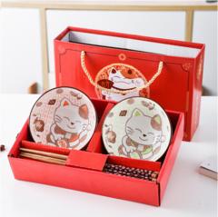(新用户专享)招财猫碗筷2件套(限自提不邮寄)