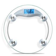 香山电子秤圆形背光体重秤智能差值对比人体称(积分专享)