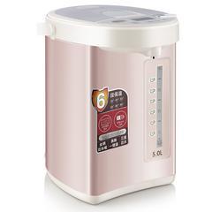 九阳(Joyoung)电开水瓶家用304不锈钢开水壶办公室用5L电热水瓶K50-P08 玫瑰金