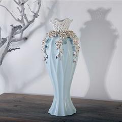 贝汉美BHM 地中海式镂空陶瓷花瓶摆件客厅电视柜玄关餐厅办公室桌