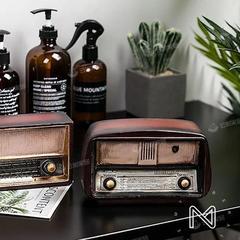 复古美式小摆件收音机创意家居客厅咖啡店店铺餐厅服装店装饰品